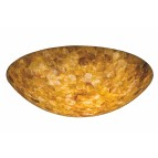 "NS116Iridescent Shell42"" Bowl 5/8"" hole"