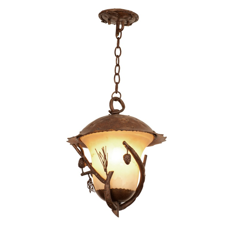 Ponderosa outdoor 3 light large hanging lantern kalco